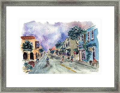 Main Street Half Moon Bay Framed Print