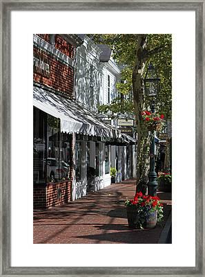 Main Street In Edgartown Framed Print