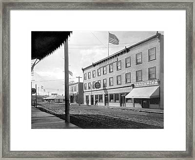 Main Street In Fairbanks Framed Print by Underwood Archives