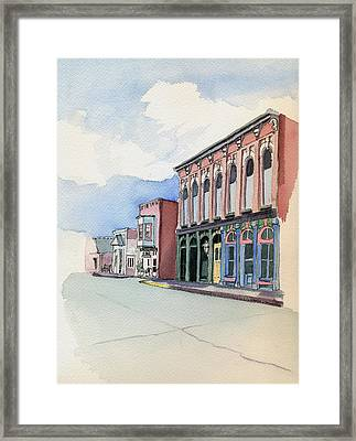 Main Street In Gosport Framed Print by Katherine Miller
