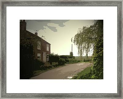 Main Street In Hollington, Heading Out Of The Village Framed Print by Litz Collection
