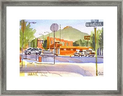 Main Street In Morning Shadows Framed Print