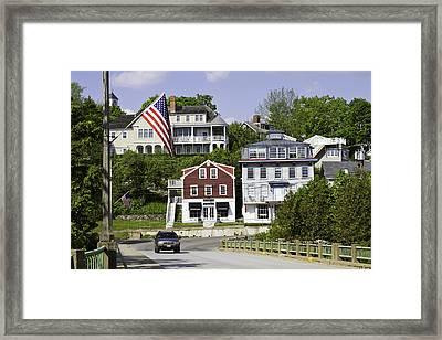 Main Street In Rockport Maine Framed Print