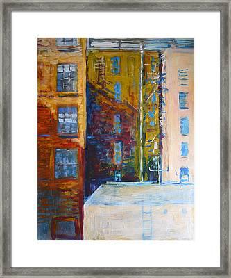 Main Street Los Angeles Framed Print by John Fish