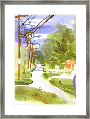 Main Street On A Cloudy Summers Day Framed Print by Kip DeVore