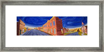 Main Street Panoramic Framed Print