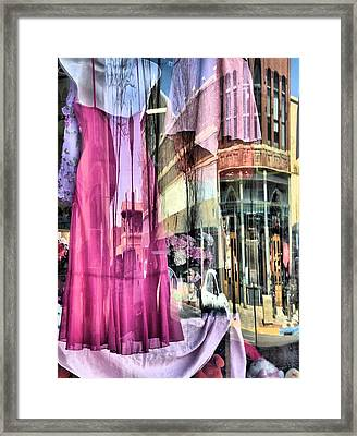 Main Street Reflections Framed Print