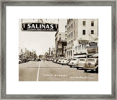 Main Street Salinas California 1941 Framed Print