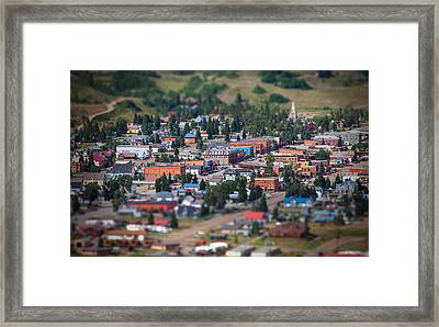 Main Street Silverton Colorado Framed Print by Darren  White