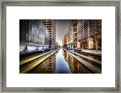 Main Street Square Framed Print