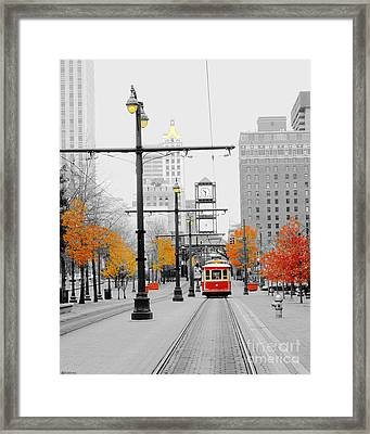 Main Street Trolley  Framed Print