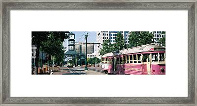 Main Street Trolley Memphis Tn Framed Print by Panoramic Images