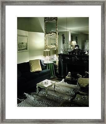 Mainbocher's Living Room Framed Print by Andre Kertesz