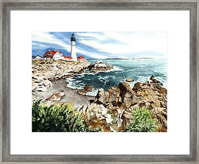 Maine Attraction Framed Print by Barbara Jewell