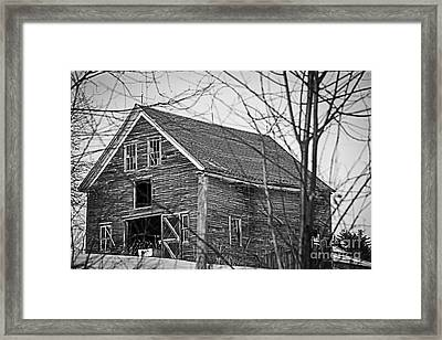 Maine Barn Framed Print