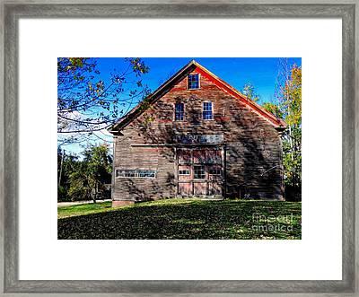Maine Barn Framed Print by Marcia Lee Jones