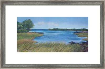 Maine Blues Framed Print