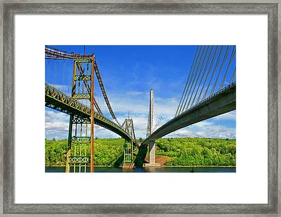 Maine Bridges Framed Print by Barbara West