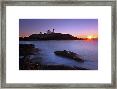 Maine Cape Neddick Nubble Lighthouse Framed Print by Juergen Roth