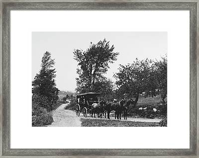 Maine Carriage Road, 1900 Framed Print by Granger