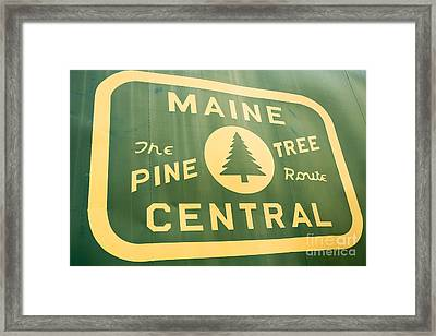 Maine Central The Pine Tree Route Framed Print