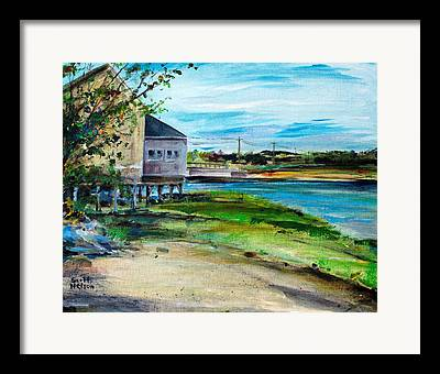Mile Road Well Maine Framed Prints