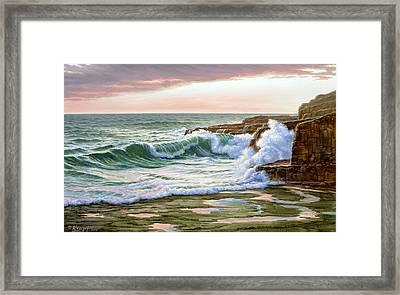 Maine Coast Morning Framed Print
