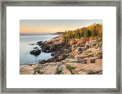 Maine Coastal Photograph - Acadia National Park Framed Print by Bill Swindaman