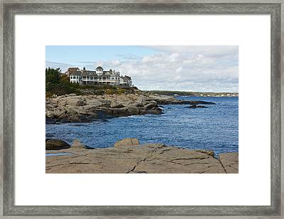 Maine Coastline Framed Print by Gail Maloney