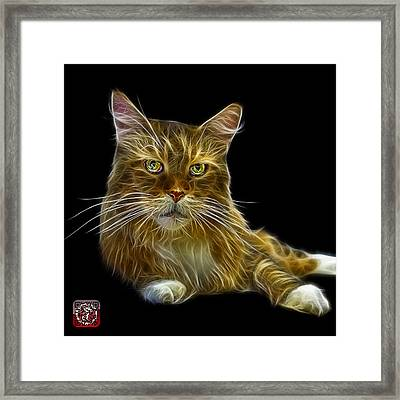Framed Print featuring the painting Maine Coon Cat - 3926 - Bb by James Ahn