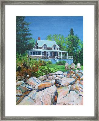 Maine Cottage Framed Print