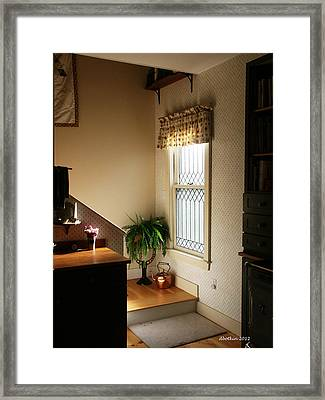 Framed Print featuring the photograph Maine Country Home by Dick Botkin