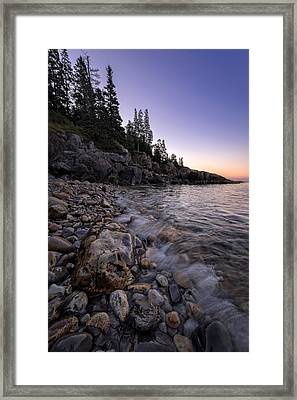 Maine Dawn Framed Print