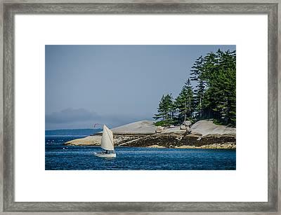 Maine Dinghy Sailing Framed Print