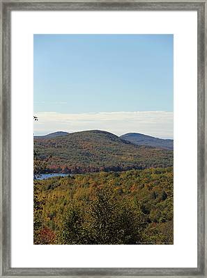 Maine Fall Framed Print by Becca Brann