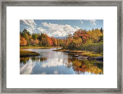 Maine Fall Foliage Photograph - Acadia Bar Harbor Area Framed Print
