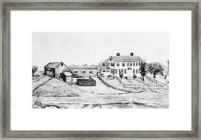 Maine Farm, 1897 Framed Print by Granger
