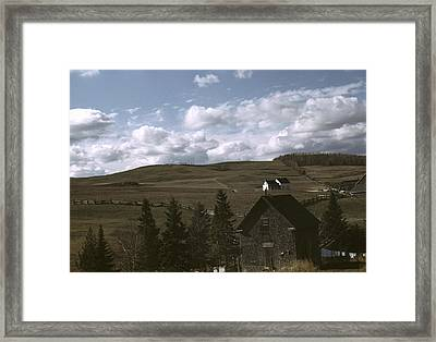 Maine Farmland, 1940 Framed Print by Granger