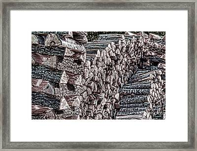 Maine Firewood Framed Print