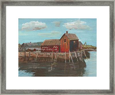 Maine Fishing Shack Framed Print