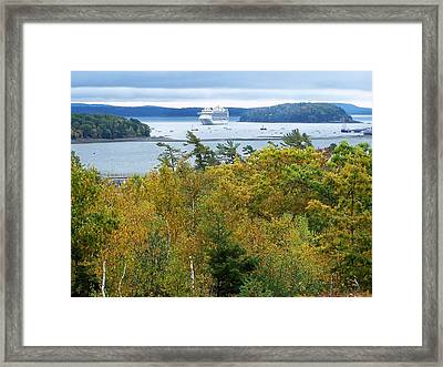 Framed Print featuring the photograph Maine Harbor by Gene Cyr