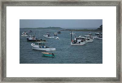 Maine Harbor Framed Print