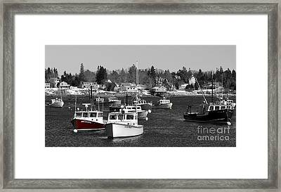 Maine Harbor Framed Print by Karin Pinkham