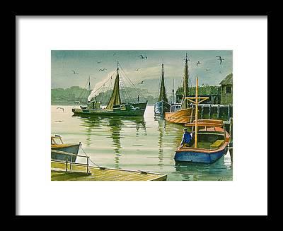 Lobster Boat Framed Prints