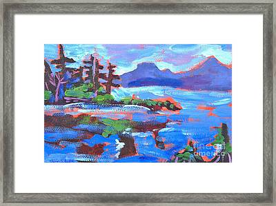 Maine In Blue Framed Print
