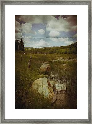 Maine Landscape Acadia National Park Clouds Framed Print by Andy Gimino