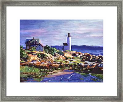 Maine Lighthouse Framed Print by David Lloyd Glover