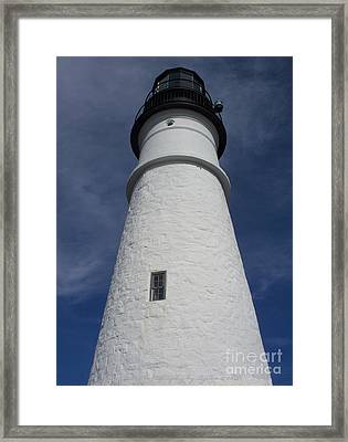 Framed Print featuring the photograph Maine Lighthouse by Gena Weiser