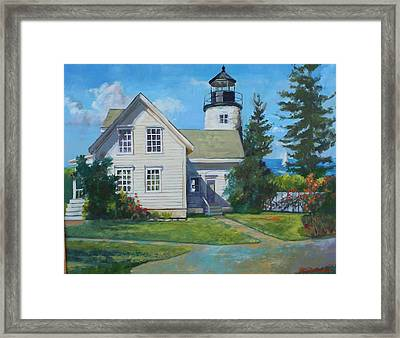 Maine Lighthouse Framed Print by Michael McDougall