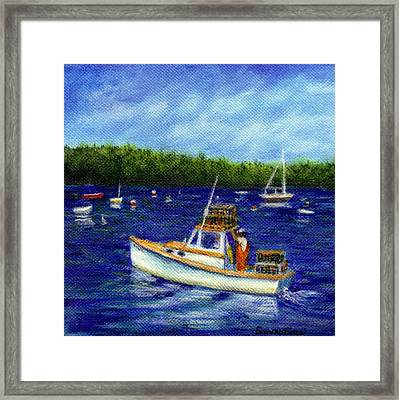 Maine Lobster Boat Framed Print